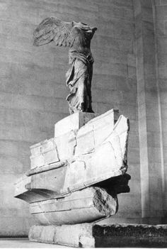 Nike of Samothrace (The Louvre, Paris) as my grandpa saw it while stationed in Europe