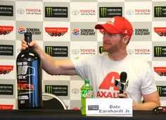 Dale Earnhardt Jr. Photos Photos - Dale Earnhardt Jr., driver of the #88 Axalta Chevrolet, speaks during a press conference during practice for the Monster Energy NASCAR Cup Series Toyota/Save Mart 350 at Sonoma Raceway on June 23, 2017 in Sonoma, California. - Sonoma Raceway - Day 1