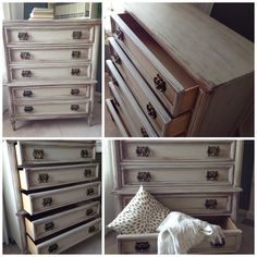 """Antiqued chest of drawers. By """"Lee.Marie Antiqued Furniture"""" on Facebook"""