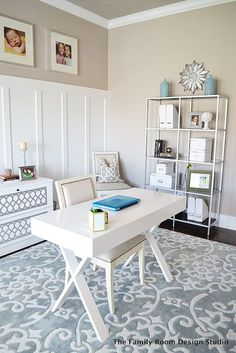 love this for so many different things,  Jen something like the sideboard could hold your printers out of sight.