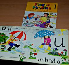 Finger Phonic books cover and inside page