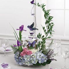 Pretty elegant butterfly theme wedding centerpiece