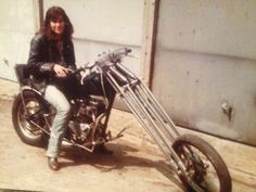 My sister on her Triumph Chopper.......sometimes when you turned it off the engine would catch fire ***