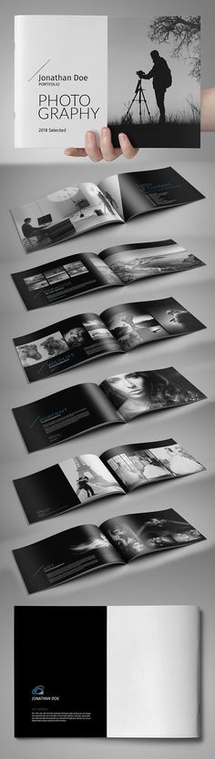 Modern Portfolio / Photobook Brochure Template #brochuredesign #brochuretemplate #catalogdesign #catalogtemplate #fashionbooklet #photographybooklet #photographybrochure #photographyportfolio #fashionlookbook