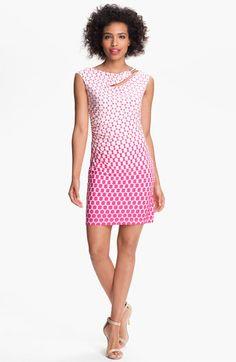 Donna Morgan 'Maddison' Embellished Print Sheath Dress
