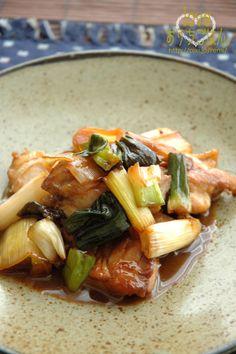 下仁田ネギと鶏もものトロり炒め。   美肌レシピ