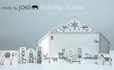 Made by Joel: Free Printable Nativity Scene; I'm so excited!  We're doing this Sunday in children's church.  :)