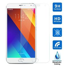 Screen Protector Film 0.3mm Front Tempered Glass For Meizu M2 Note Blue Charm Note2 M1 Note MX5 MX4 MX3 MX2 MX4 Pro 5 6 M3 Note