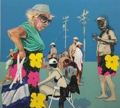 """Saatchi Art Artist Stella Kapezanou; #stellakapezanou #Painting, """"heavens 2 (hello Andy)"""" #art"""