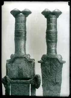 Celtic bronze (silver) sword found in La Osera necropolis at Chamartín no excat date History Images, Art History, Corinthian Helmet, Hallstatt, Archaeological Finds, Ceramic Jars, Iron Age, Ancient Romans, Vikings