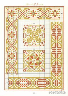 811 a 814 Cross Stitch Borders, Cross Stitch Alphabet, Cross Stitching, Cross Stitch Embroidery, Celtic Patterns, Embroidery Patterns, Cross Stitch Patterns, Seed Bead Patterns, Weaving Patterns
