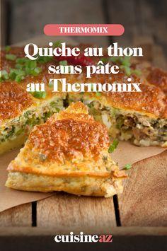La quiche au thon sans pâte au Thermomix est un plat facile à cuisiner si l'on reçoit des convives à l'improviste.  #recette#cuisine#quiche thon#patisseriesale #robotculinaire #thermomix