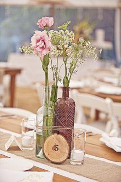 Hermoso y creativo centro de mesa para boda