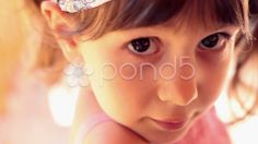 little baby girl closeup portrait. - Stock Footage | by ionescu