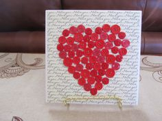 Valentine Ceramic Tiles Valentine Decor by BrownBeaverBeadery   SOLD