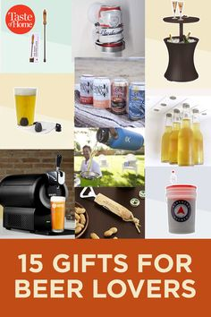 15 Gifts for Beer Lovers Gifts For Beer Lovers, 25 Days Of Christmas, Taste Of Home, Food Festival, Food Gifts, Home Brewing, Cheer, Humor, Home Brewery
