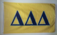 Brothers and Sisters' Greek Store - Delta Delta Delta Tri-Delta Sorority Flag, $19.95 (http://www.brothersandsistersgreekstore.com/delta-delta-delta-tri-delta-sorority-flag/)