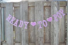 Ready to pop, Ready to pop banner, ready to pop sign, baby shower purple banner, pregnant banner, About to pop, About to pop banner