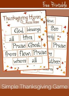Make Thanksgiving this year memorable with this fun puzzle hunt Thanksgiving game.
