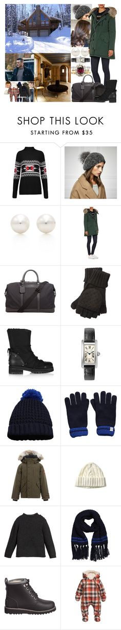 """""""Arriving at the cabin of Fred's family near Aviemore in the Cairngorms in the early afternoon"""" by marywindsor ❤ liked on Polyvore featuring Autumn Cashmere, Tiffany & Co., Moncler, Burberry, Ralph Lauren, Jimmy Choo, Canada Goose, UGG Australia and Catimini"""