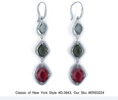 Incredible SS Multi CZ Dangle Earring with Matte Finish Classics of NY D 3943 $118.00 | eBay http://www.ebay.com/itm/Incredible-SS-Multi-CZ-Dangle-Earring-Matte-Finish-Classics-NY-D-3943-/271082436676?pt=Fashion_Jewelry=item3f1dc5b844