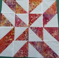 The Squire Smiths choice quilt block bears my name so I'm surprised that I didn't pick up on it ages ago. Simple 4 patch block with pinwheel - quilt image