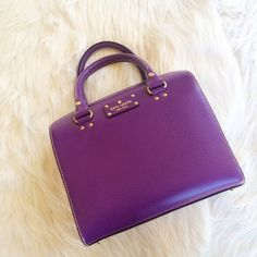 PURPLE KATE SPADE BAG Excellent condition! Only carried a couple times **remember to bundle and save 10%** no holds/no trades/no modeling/no asking for lowest kate spade Bags Satchels