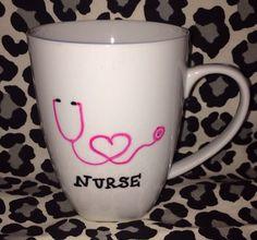 14oz+Nurse+coffee+mug+by+MrsChicBoutique+on+Etsy,+$12.99
