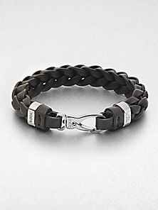 Tod's - Braided Leather Bracelet