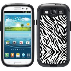 Zebra Black Animal Prints design on OtterBox® Commuter Series® Case for Samsung Galaxy S3 in Black