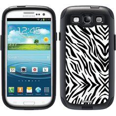 Zebra Black Animal Prints design on OtterBox® Commuter Series® Case for Samsung Galaxy S3 in Black