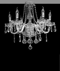 Dst Marie Therese 6 Arms Chandelier, Geniune Clear Crystal & Glass 6 Lights Chandeliers Ceiling Light Light for Dining Room, Bedroom, Living Room and so on, Size: Diameter X 58cm Height X 53cm: Amazon.co.uk: Lighting