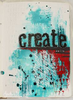"""""""Create Daily"""" art journal page"""
