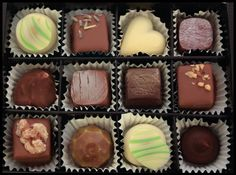 12pc chocolate box - #organic #handmade #chocolate #finland