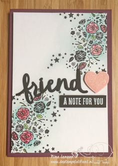 Friend- Wood Words- Stampin'Up! - Lovely Words Thinlits - De Stempelolifant