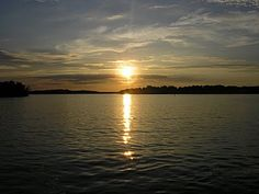 on the lake...