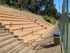 New seating with an older wall along the top Retaining Blocks, Old Wall, Stairways, 4x4, Design, Stairs, Staircases, Ladders