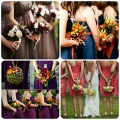 Fall Wedding Bridesmaids' Dress Ideas