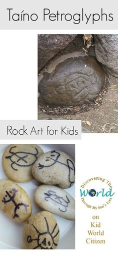 Taíno Petroglyphs: Hispanic Culture & Rock Art for Kids. This is great for Hispanic Heritage Month, or anytime for a cultural activity in Spanish class. Kids love this multicultural craft and the materials are easy/free! Multicultural Activities, Spanish Activities, Learning Spanish, Activities For Kids, Spanish Lessons, Culture Activities, Anxiety Activities, Spanish Projects, Spanish Art