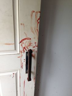 The Shirley Mundia murder scene as her mother, who was stabbed and bleeding, frantically ran to get help. American Psycho, American Horror Story, Monster Prom, Bird Boxes, Creepy, Crime, Blood, Death, The Originals