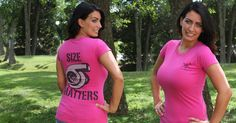 """Bigger is better (unless we're talking about that wart you have growing on your big toe) so let people know with this """"Size Matters"""" t-shirt."""