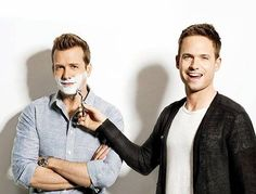 Suits Harvey and Mike (Gabriel Macht and Patrick J. Adams)