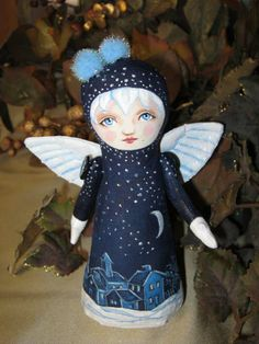 """""""Starry Night Angel"""" Stump Doll by Hally Levesque"""