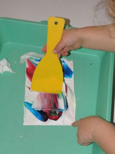 Irresistible Ideas for play based learning » Blog Archive » marbled shaving cream