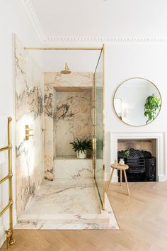 Indoor Fig Trees, Times Property, Georgian Townhouse, Modern Interior, Interior Design, Marble Showers, Walk In, House Viewing, Marble Vanity Tops