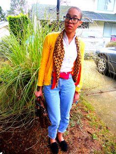 Mango top & scarf/ Levi's jeans/Blue notes cardigan/Urban Behavior Coat/ Steve Madden slippers/ Beauty & the Beast ring  Aldo bag