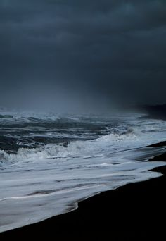 Dark and romantic sea