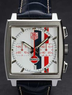 Tag Heur monaco- the classic square face watch. this will be mine!