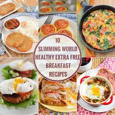 10 delicious Healthy Extra Free Slimming World Breakfasts for those days when you want bread, cheese or milk etc later in the day.
