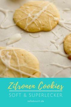 Kinder werden diese Kekse lieben. Diese Zitronen Cookies sind sooooo lecker & easy zu backen - super softe Zitronenkekse